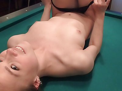 Awesome blonde girl gets her slit drilled silly