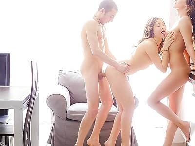 Liza, Stephany in threesome experience